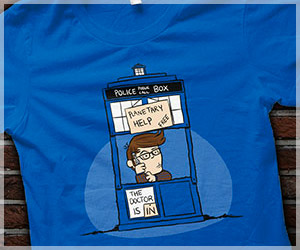 Charlie Brown Doctor Who Shirt, The Doctor Is In, Funny Dr. Who Parody 