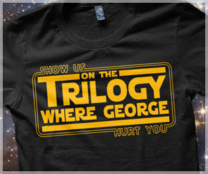 Show Us On The Trilogy Where George Hurt You T-Shirt, Funny Star Wars Parody Shirt, George Lucas shirt