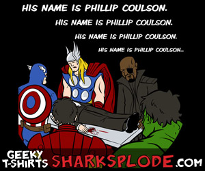 Avengers Fight Club Parody Shirt, His Name Is Phillip Coulson, Agent Coulson Lives