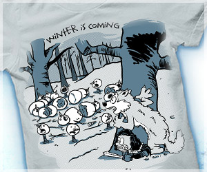Winter Is Coming T-Shirt, Funny Game of Thrones Parody Shirt, John Snow, DireWolf