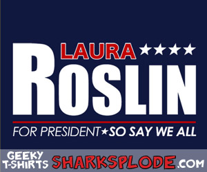 Funny Battlestar Galactica Parody T-Shirt, BSG SHIRT, Roslin For President, Roslin 08, Roslin 2012, Scifi Shirt, Geeky Tees, Nerdy Shirts