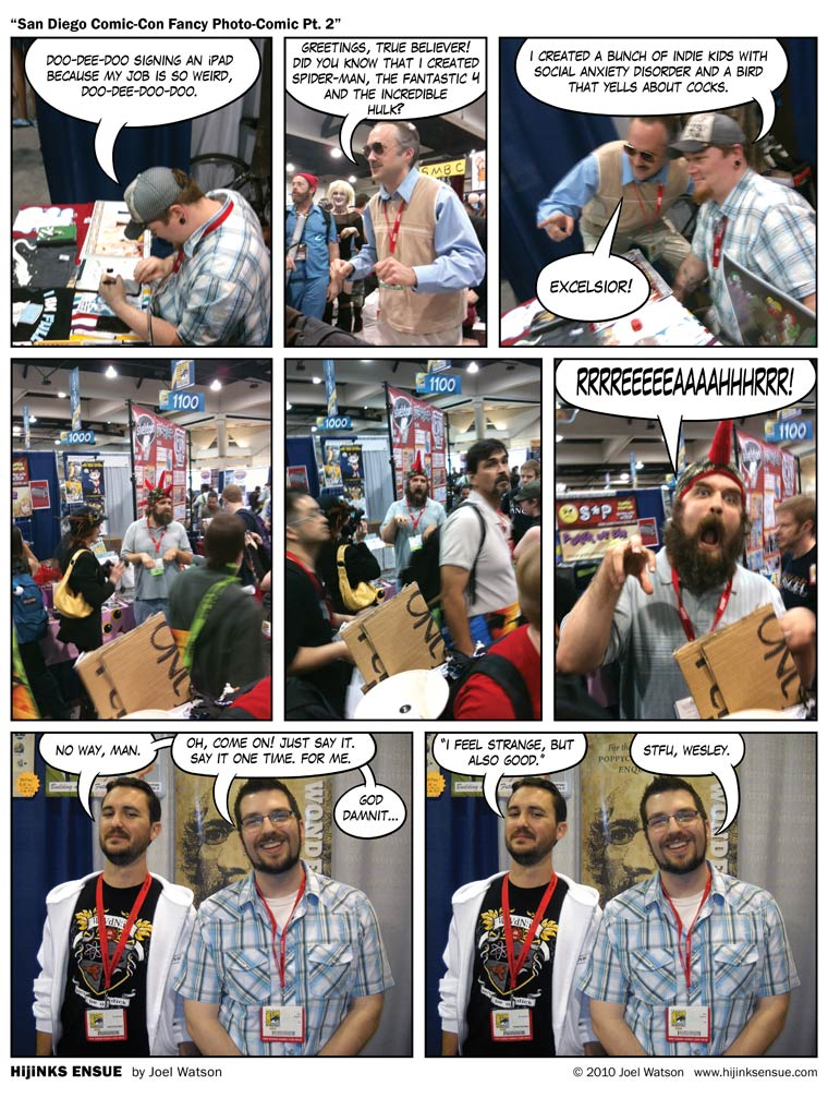 San Diego Comic-Con Fancy Photo-Comic Pt. 2