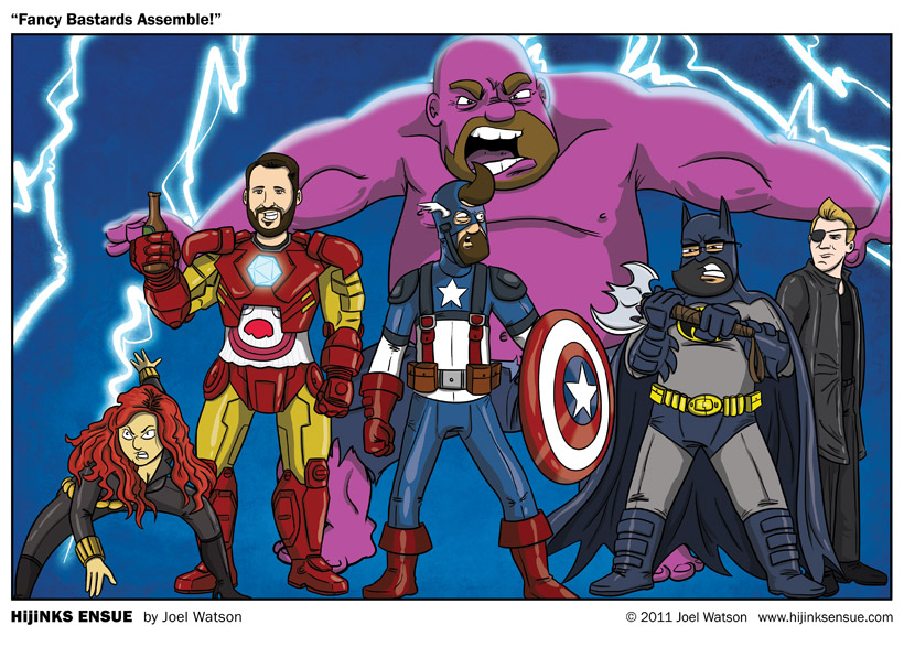 Avengers! Get your super asses in here! We got assemblin' to do!