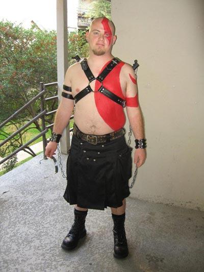 Josh in Kratos Costume - Thumb