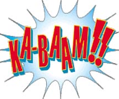 Ka-Baam!! - improv comic book adventures at Hideout, The in Austin TX 78701