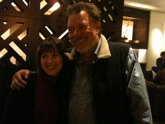 Angela Melick with Jonathan Frakes