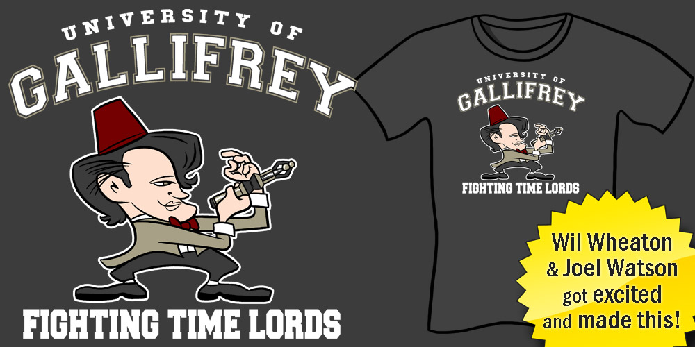 Gallifrey University Fighting Time Lords Shirt - Doctor Who parody, geeky tees, funny t-shirts, nerdy shirts