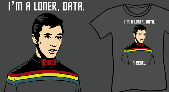 Funny Geeky T-Shirt Star Trek Parody shirt - Wesleys Big Adventure T-Shirt-Wil Wheaton-Wesley Crusher-Sharksplode-I'm A Loner Data A Rebel