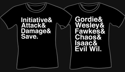 Funny Geek shirts by Wil Wheaton and Joel Watson at Sharksplode
