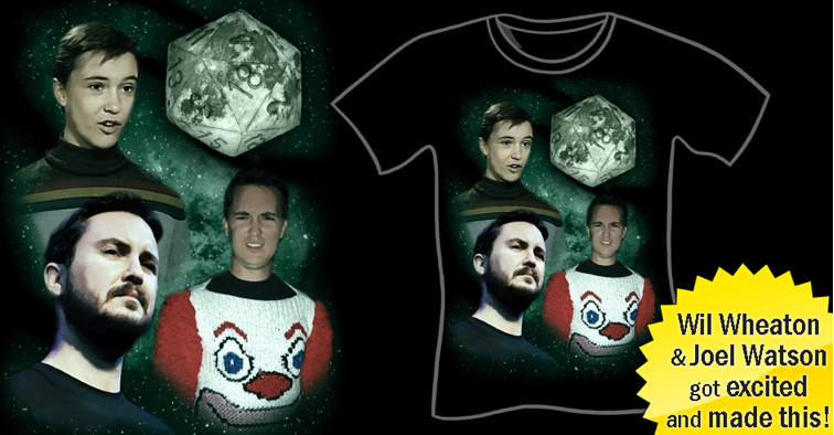 Three Wheaton Moon T-Shirt, Funny Three Wolf Moon Parody, Wil Wheaton T-Shirt, 3 Wil Wheaton Moon, Clown Sweater, Wesley Crusher, Evil Wil Wheaton