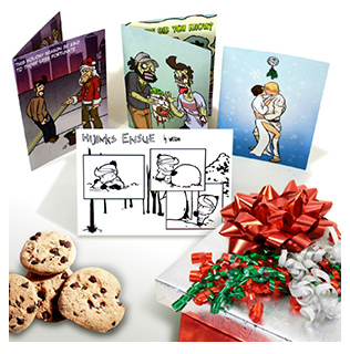 HijiNKS ENSUE Holiday Cards - Zombie cards, star wars cards, Calvin and hobbes Firefly serenity cards, Hobo Santa Cards