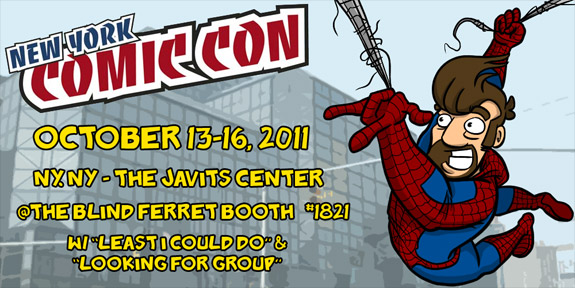 Joel Watson of Geek webcomic HijiNKS ENSUE at New York Comic Con 2011