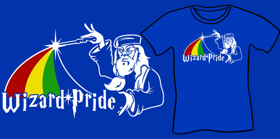 Wizard Pride Shirt, Funny Harry Potter Shirt, Gay Dumbledore shirt, Harry Potter Parody T-Shirt