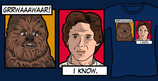 Han And Chewbacca - I Love You / I Know, Han And Chewie Star Wars Parody Funny T-Shirt