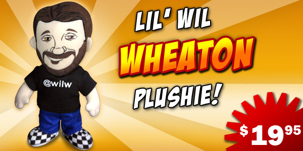 Wil Wheaton Plushie from HijiNKS ENSUE, Wil Wheaton Plush toy doll