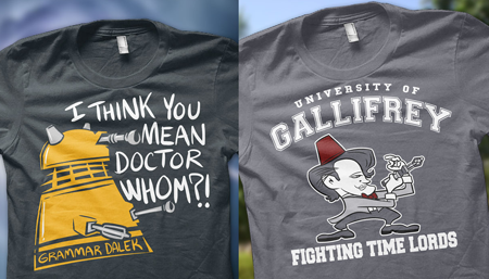 Grammar Dalek Shirt, Fighting Time Lords Shirt, Hijinks ENSUE