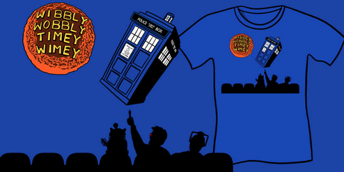 Wibbly Wobbly Timey Wimey Shirt - Doctor Who and MST3k Parody shirts