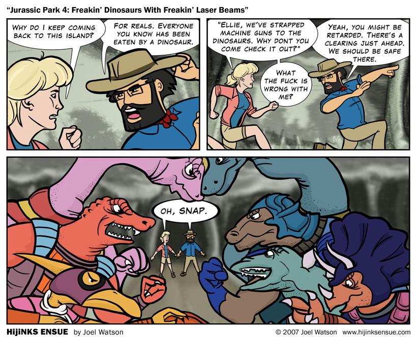 Jurassic Park 4: Freakin' Dinosaurs with Freakin' Laser Beams