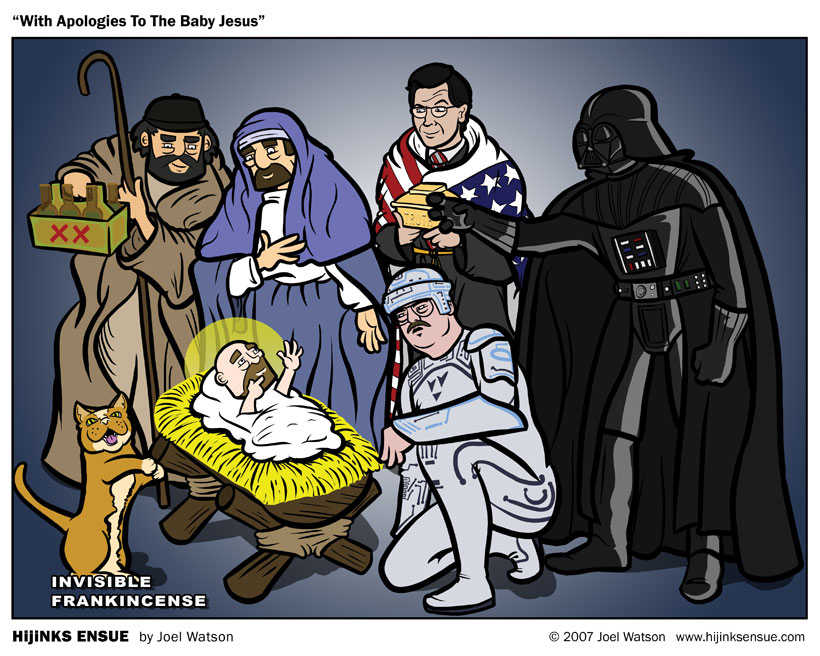 With apologies to the baby Jesus