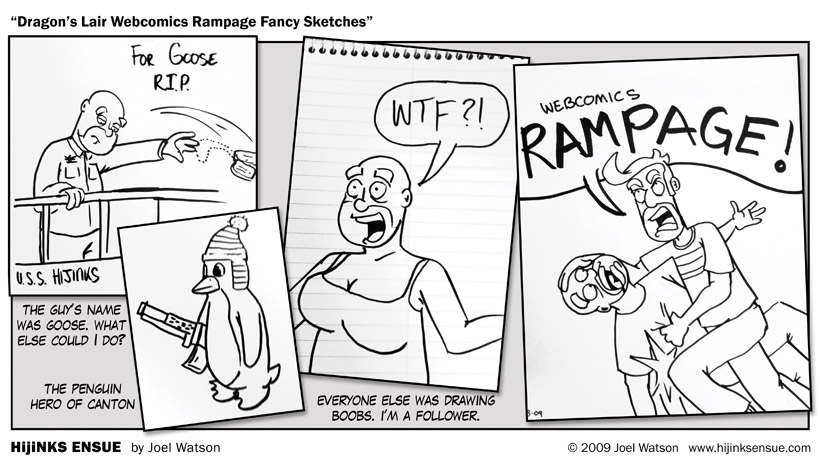 Dragon's Lair Webcomics Rampage!