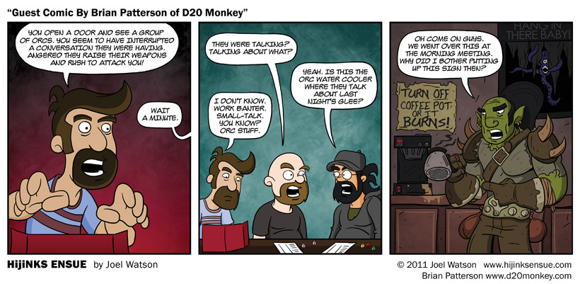 Guest Comic By Brian Patterson of D20 Monkey