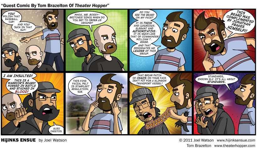 "Guest Comic By Tom Brazelton Of ""Theater Hopper"""
