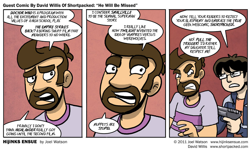 "Guest Comic By David Willis Of Shortpacked ""He Will Be Missed"""