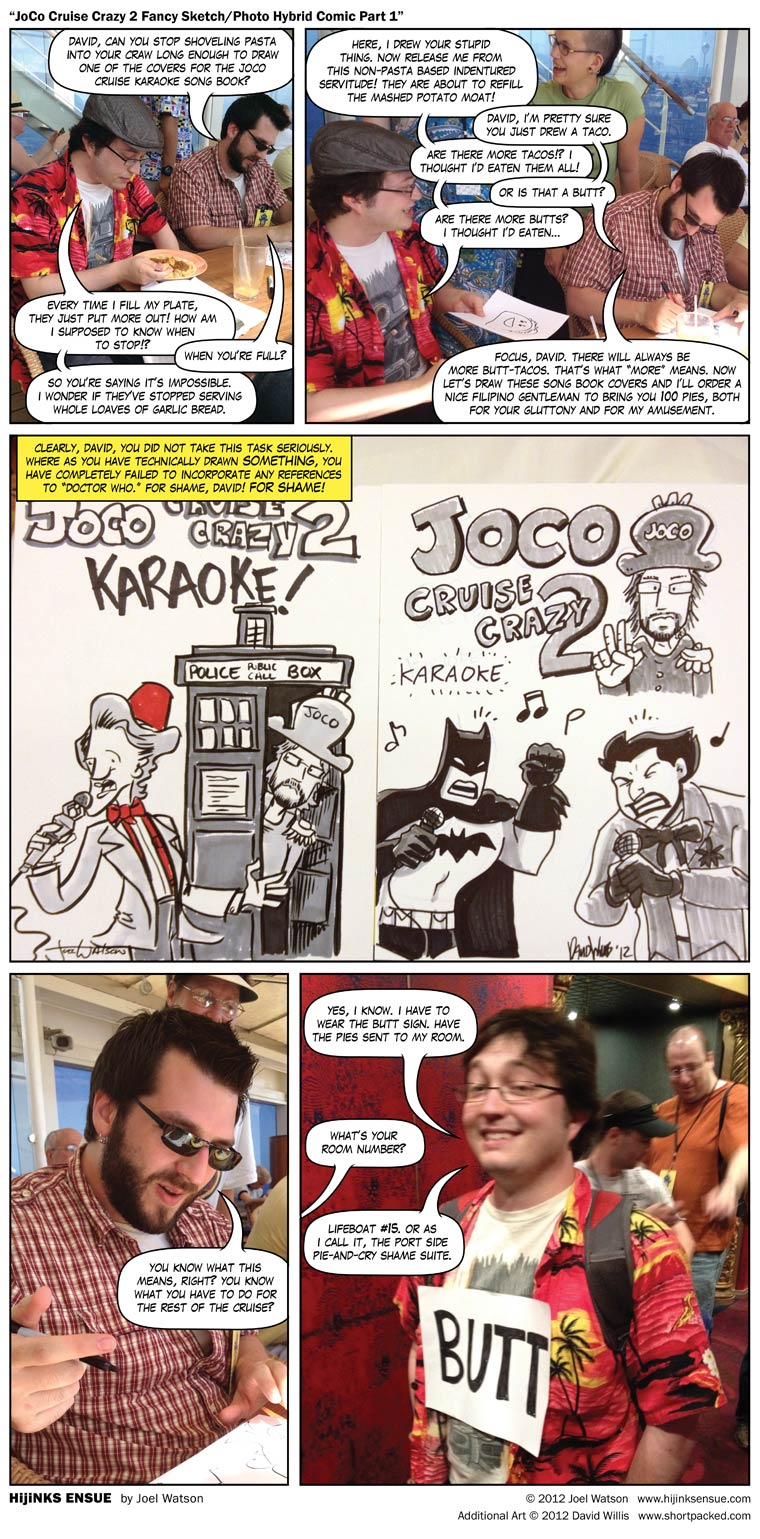 JoCo Cruise Crazy 2 Fancy Sketch/Photo Hybrid Comic Part 1