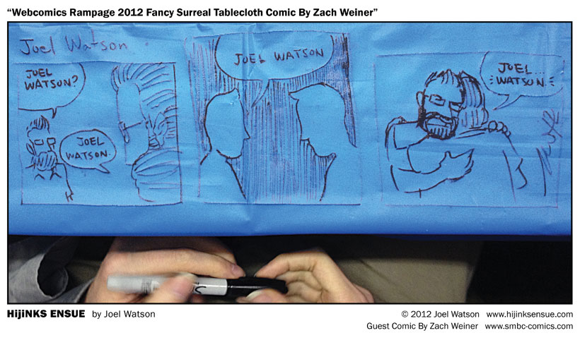 Webcomic Rampage 2012 Fancy Surreal Tablecloth Guest Comic By Zach Weiner