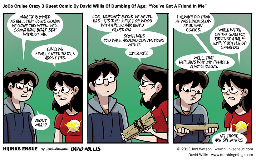 JoCo Cruise Crazy 3 Guest Comic By David Willis Of Dumbing Of Age