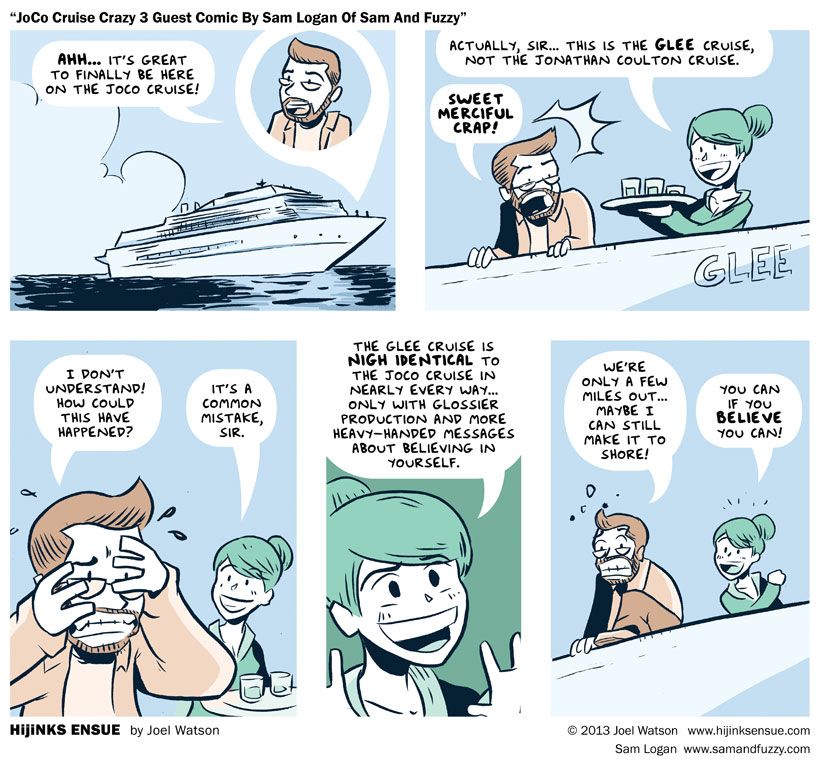 JoCo Cruise Crazy 3 Guest Comic By Sam Logan Of Sam And Fuzzy