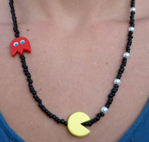 Pacman Necklace on Etsy