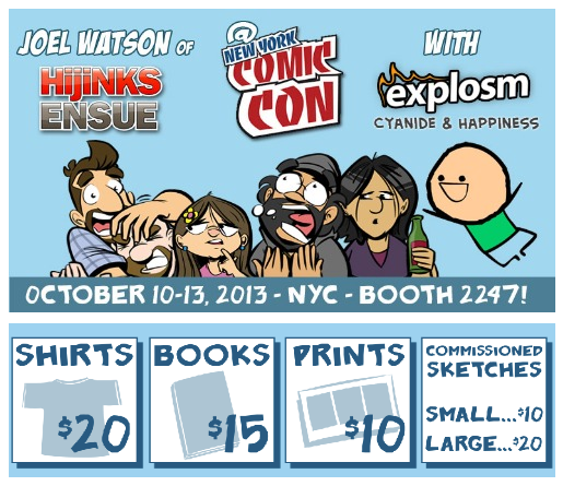 hijinks ensue NYCC 2013 with explosm