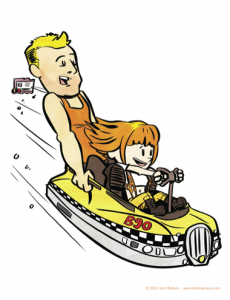 hijinks ensue calvin and hobbes fifth element print poster