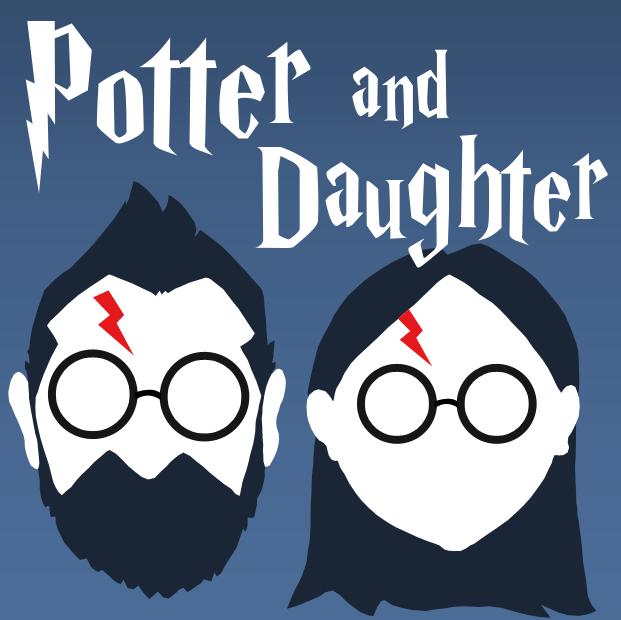 potter and daughter podcast logo hijink ensue