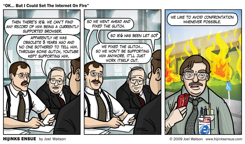 OK… But I Could Set The Internet On Fire