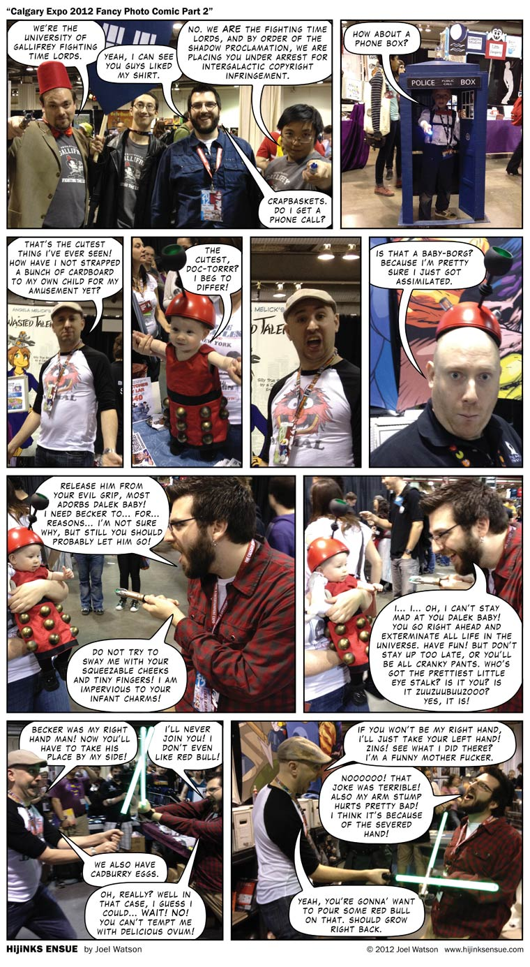 I'm sure those guys in panel one we just fooling around. At worst they had probably just planned a murdery-wurdery suicide pacty-wacty.