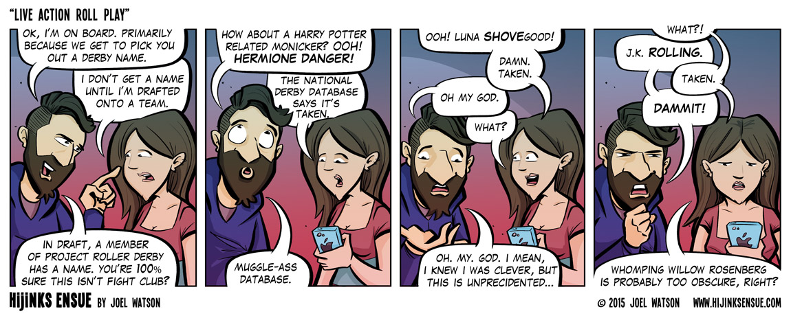 If you fall over a lot, you can be 'Professor Stumbledore.'